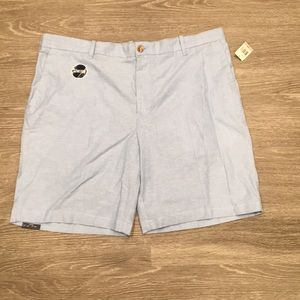 NWT IZOD Flat-Front Newport Oxford Shorts